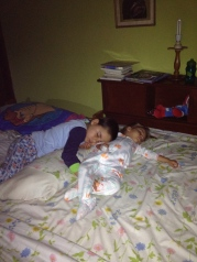Santi and Adri sleeping