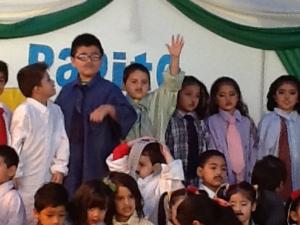 Santi waving