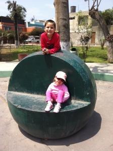 Santi and Adri at the park
